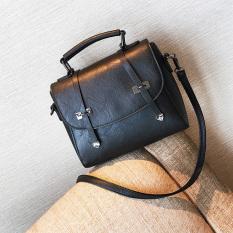 Jual Musim Gugur Dan Musim Dingin Korea Fashion Style Perempuan Baru Bahu Messenger Tas Tas Tangan Hitam Online