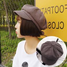 Segi Delapan Korea Fashion Style Musim Semi dan Musim Panas Topi Baret Gaya Jepang