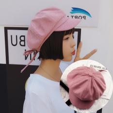Topi Musim Semi dan Musim Panas Perempuan Pasang Versi Korea Netral Inggris  Huruf Dasi Kupu- 9649a681ca