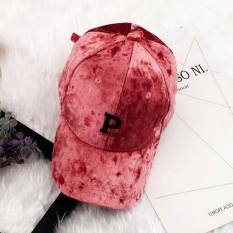 Diskon Besarmusim Gugur Dan Musim Dingin Korea Fashion Style Perempuan Surat Topi Baseball Topi Beludru Kulit Bedak P Huruf