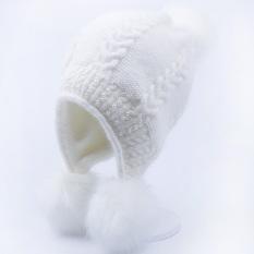 Musim Gugur Dan Musim Dingin Korea Fashion Style Rajutan Lapisan Ganda Pelindung Telinga Bulu Kelinci Topi