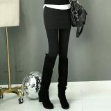 Toko Musim Gugur Dan Musim Dingin Korea Fashion Style Tambah Beludru Perempuan Lebih Tebal Rok Celana Legging Lapisan Tunggal Hitam Dekat Sini