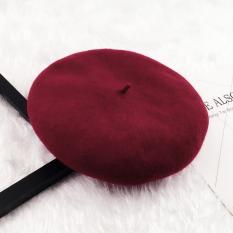 Harga Musim Gugur Dan Musim Dingin Korea Fashion Style Wol Perempuan Pelukis Topi Baret Topi Arak Anggur Versi Upgrade Wol Bud New