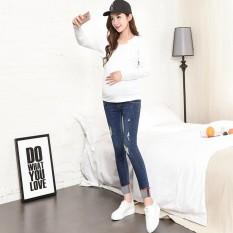 Jeans Wanita Hamil Celana Pensil Modis Musim Semi dan Musim Gugur Baru