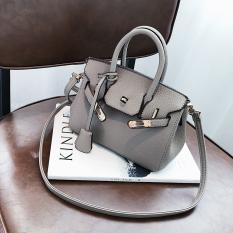 Musim Gugur Dan Musim Dingin Modis Motif Kulit Imitasi Tas Model Hermes Baru Tas Wanita (Coklat Muda Model Kecil)