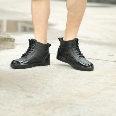 Sepatu Boots Hujan Musim Panas Pria Ringan Karet Modis