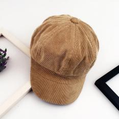 Sastra angin Gaya Korea Inggris musim gugur musim dingin topi Belle  Perempuan pasang korduroi netral topi 56e8947f9d
