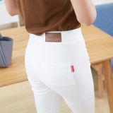 Spek Musim Gugur Dan Musim Dingin Tambah Beludru Hitam Perempuan Terlihat Langsing Celana Pensil Sembilan Poin Celana Putih Kulit Standar Model Baju Wanita Celana Wanita Oem