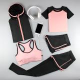 Beli Musim Gugur Dan Musim Dingin Yoga Perempuan Pakaian Pakaian Workout Merah Muda Lima Potong Online