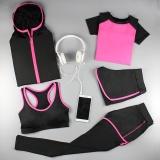 Harga Musim Gugur Dan Musim Dingin Yoga Perempuan Pakaian Pakaian Workout Rose Lima Potong Original