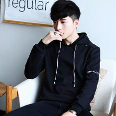 Beli Musim Dingin Pria Lengan Panjang Berkerudung Kaos Sweater T Shirt Hitam Oem Asli