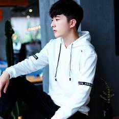 Daftar Harga Musim Dingin Pria Lengan Panjang Berkerudung Kaos Sweater T Shirt Putih Oem