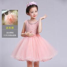 Beli Musim Panas Anak Besar Vest Gadis Bunga Gaun Pakaian Anak Anak Gaun Putri Gaun Merah Muda Merah Muda Tiongkok