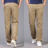 Jual Celana Cargo Musim Panas Bagian Tipis Celana Panjang Pria Longgar 290 Coklat Kekuningan Online