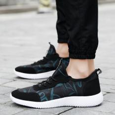 Toko Sepatu Kanvas Musim Panas Olahraga Bernapas Dan Sepatu Korea Fashion Style Berlari Hitam Dan Biru Murah Di Tiongkok