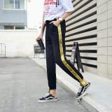 Jual Gaya Harajuku Bagian Tipis Celana Kasual Korea Fashion Style Olahraga Celana Hitam Lengkap