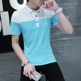 Harga Musim Panas Dengan Kerah Kerah Turndown Polo Kemeja T Shirt 998 Di Bawah Light Blue Origin
