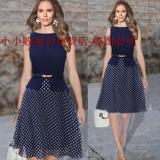 Beli Musim Panas Elegan Tanpa Lengan Perempuan Gaun Pesta Gaun Gaun T Shirt Ol Gambar Warna Kredit Tiongkok