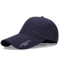 Musim Panas Luar Ruangan Panjang Matahari Topi Bisbol Topi Topi Biru Tua Asli