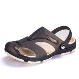 Diskon Musim Panas Non Slip Sandal Sandal Pantai Sepatu Coklat Gelap Sepatu Pria Sepatu Sendal Other