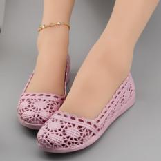 Jual Beli Musim Panas Peas Sepatu Sepatu Ibu Pucat Merah Muda Ungu