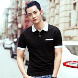 Ongkos Kirim Musim Panas Pria Kerah T Shirt Polo Hitam Pendek Di Tiongkok