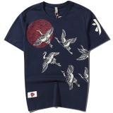 Spesifikasi Musim Panas T Shirt Tee Retro Derek Pakaian Pria Lengan Pendek Biru Baju Atasan Kaos Pria Kemeja Pria Baru
