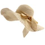 Toko Topi Pan Musim Panas Topi Lebar Topi Perempuan Pan Beige Oem