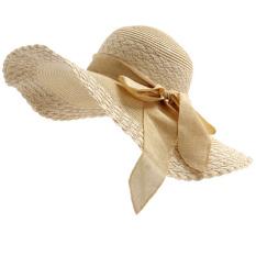 Toko Topi Pan Musim Panas Topi Lebar Topi Perempuan Pan Beige Yang Bisa Kredit