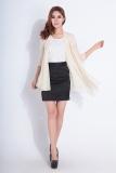 Cuci Gudang Musim Panas Yang Elegan Wanita Lengan Panjang Atasan Rajut Kardigan Matahari Pelindung Blus Tipis Mantel