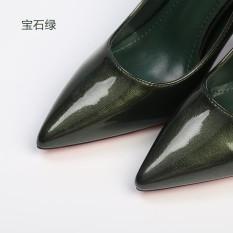 Musim Semi Baru Sepatu Wanita Merah Sepatu Tumit (Zamrud Asli Hijau)
