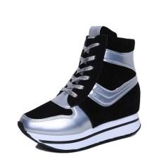 Musim Semi Baru Sol Tebal Sepatu Angsa Emas Sepatu Wanita (Hitam 916)