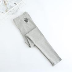 Spesifikasi Burung Hantu Kartun Bordir Perempuan Celana Stretch Kaki Bottoming Celana Abu Abu Terang Abu Abu Terang Beserta Harganya