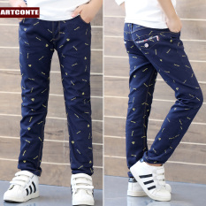 Musim Semi Dan Gugur Baru Celana Kasual Celana Panjang (Superman S Cetak Biru--Celana Cargo)