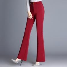 Spesifikasi Musim Semi Dan Gugur Baru Pinggang Tinggi Celana Perempuan Celana Stretch Boot Cut Celana 957 Merah Yang Bagus Dan Murah