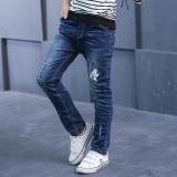 Toko Musim Semi Dan Gugur Baru Pinggang Tinggi Slim Celana Musim Gugur Celana Jeans Biru Dekat Sini