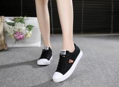 Jual Musim Semi Dan Gugur Flat Shoes Remaja Anak Perempuan Kanvas Sepatu Hitam C199 Sepatu Wanita Sepatu Sport Sepatu Sneakers Wanita Other Branded
