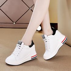 Harga Termurah Sepatu Olahraga Wanita Sol Tebal Sol Platform Putih Putih