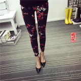 Tuan Cool Multi Color Female Outerwear Ankle Length Pants Spring Leggings Plum Asli
