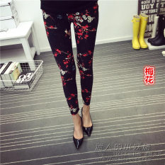 Spesifikasi Tuan Cool Multi Color Female Outerwear Ankle Length Pants Spring Leggings Plum Murah