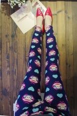 Jual Tuan Cool Multi Color Female Outerwear Ankle Length Pants Spring Leggings Biru Cinta Kecil Monyet Bawah Biru Tua Oem Murah