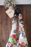 Toko Tuan Cool Multi Color Female Outerwear Ankle Length Pants Spring Leggings Bunga Putih Oem