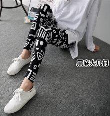 Beli Tuan Cool Multi Color Female Outerwear Ankle Length Pants Spring Leggings Hitam Besar Geometris Baju Wanita Celana Wanita Oem Dengan Harga Terjangkau