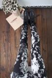 Beli Tuan Cool Multi Color Female Outerwear Ankle Length Pants Spring Leggings Hitam Dan Putih Bunga Kecil Di Tiongkok