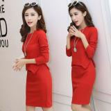 Diskon Musim Semi Dan Musim Gugur Lengan Panjang Setelan Rok Merah Baju Wanita Dress Wanita Gaun Wanita Oem Di Tiongkok