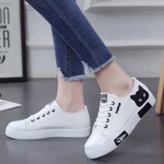 Musim Semi Dan Musim Gugur Perempuan Baru Siswa Sepatu Kets Putih Korea Fashion Style Kanvas Sepatu Putih Asli