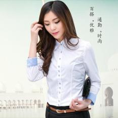 Toko Musim Semi Dan Musim Gugur Perempuan Lengan Panjang Perempuan Atasan Kemeja Putih Putih Lengkap Di Tiongkok