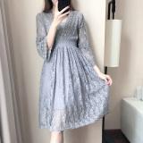 Toko Musim Semi Dan Musim Panas Baru Lace Dress Abu Abu Tiongkok