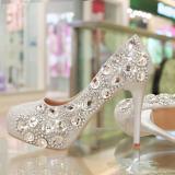 Spesifikasi Musim Semi Dan Musim Panas Baru Sepatu Pernikahan Sepatu Kristal 8 9 Cm Bagus