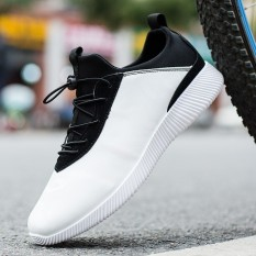 Musim Semi Dan Musim Panas Remaja Bernapas Anak Laki-Laki Sepatu SLIP ON Sepatu Pria (Putih)